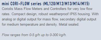 13-mini Cori-Flow series